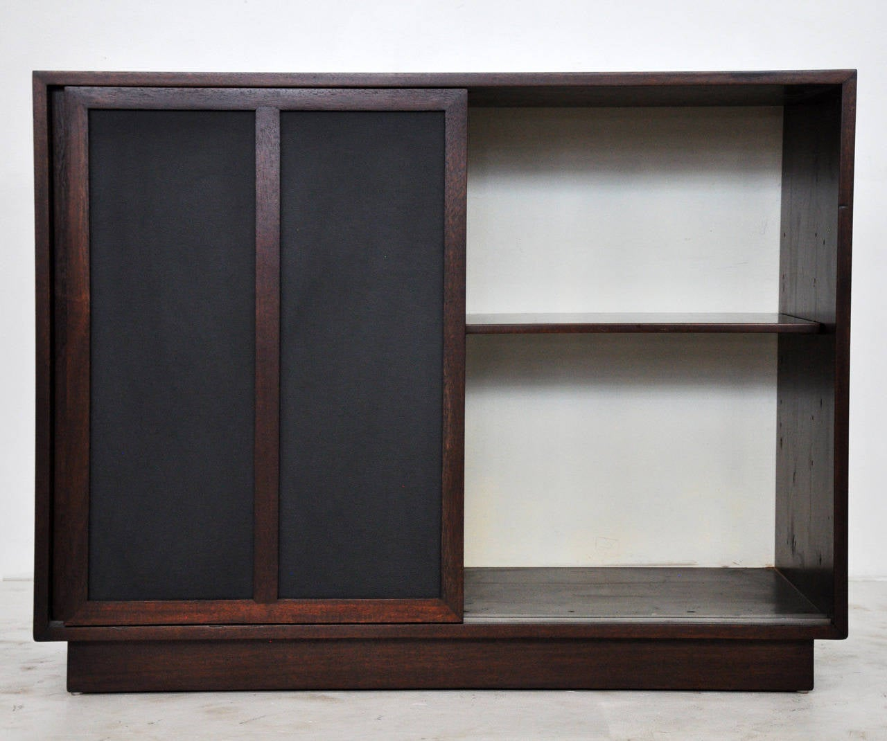 1070 #5C4642 Harvey Probber Chest With Leather Doors At 1stdibs save image Harvey Doors 43271280