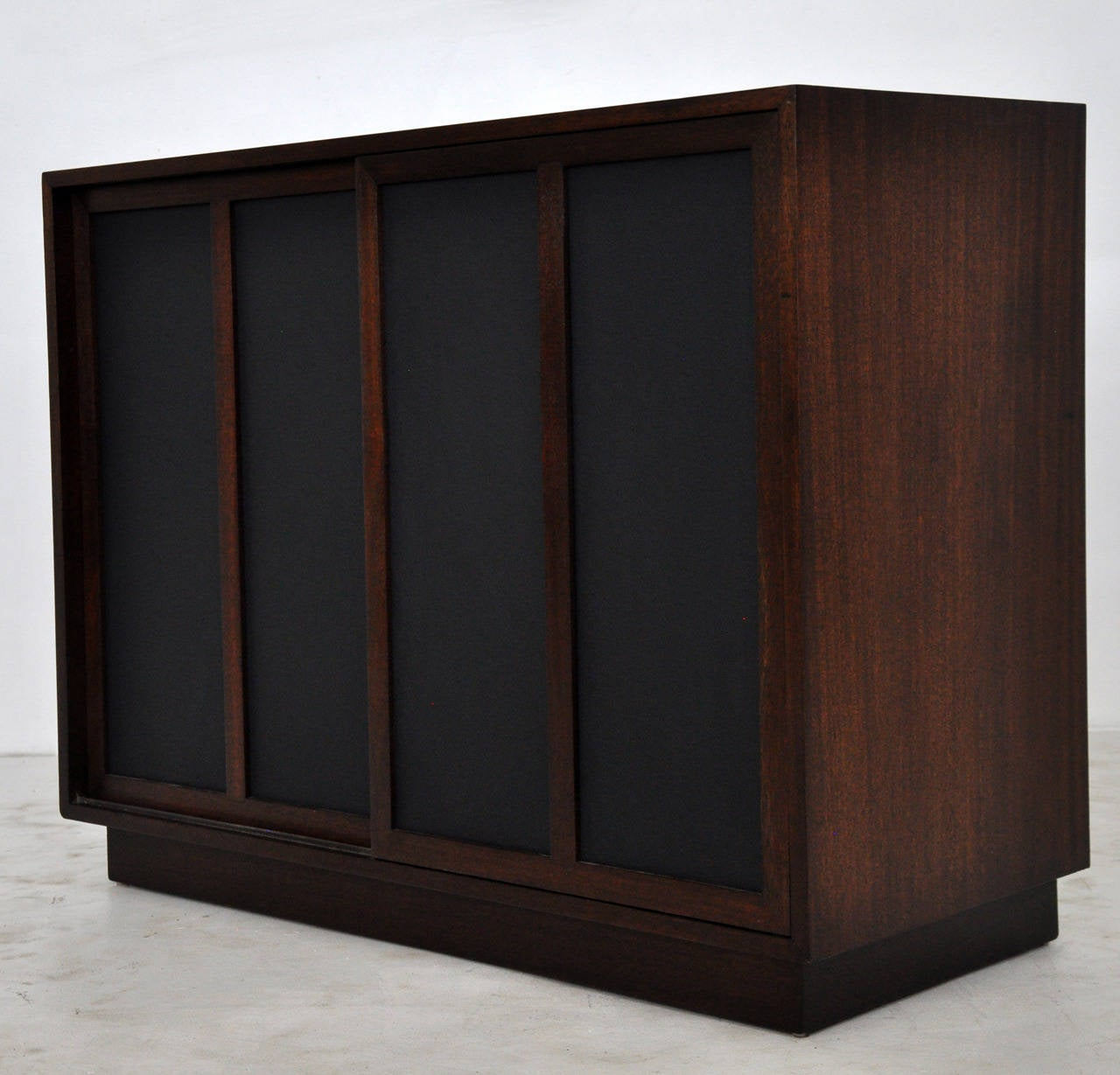 1229 #58362B Harvey Probber Chest With Leather Doors At 1stdibs save image Harvey Doors 43271280