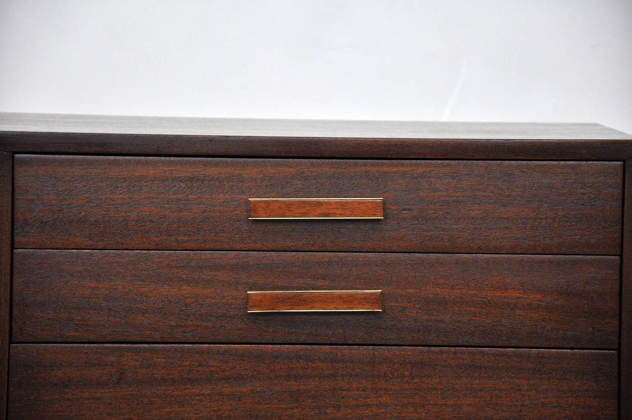 850 #A54D26 Harvey Probber Credenza With Leather Doors At 1stdibs save image Harvey Doors 43271280