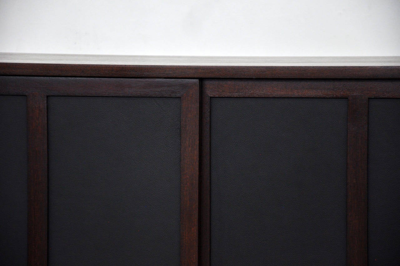 850 #5A4443 Harvey Probber Credenza With Leather Doors At 1stdibs save image Harvey Doors 43271280