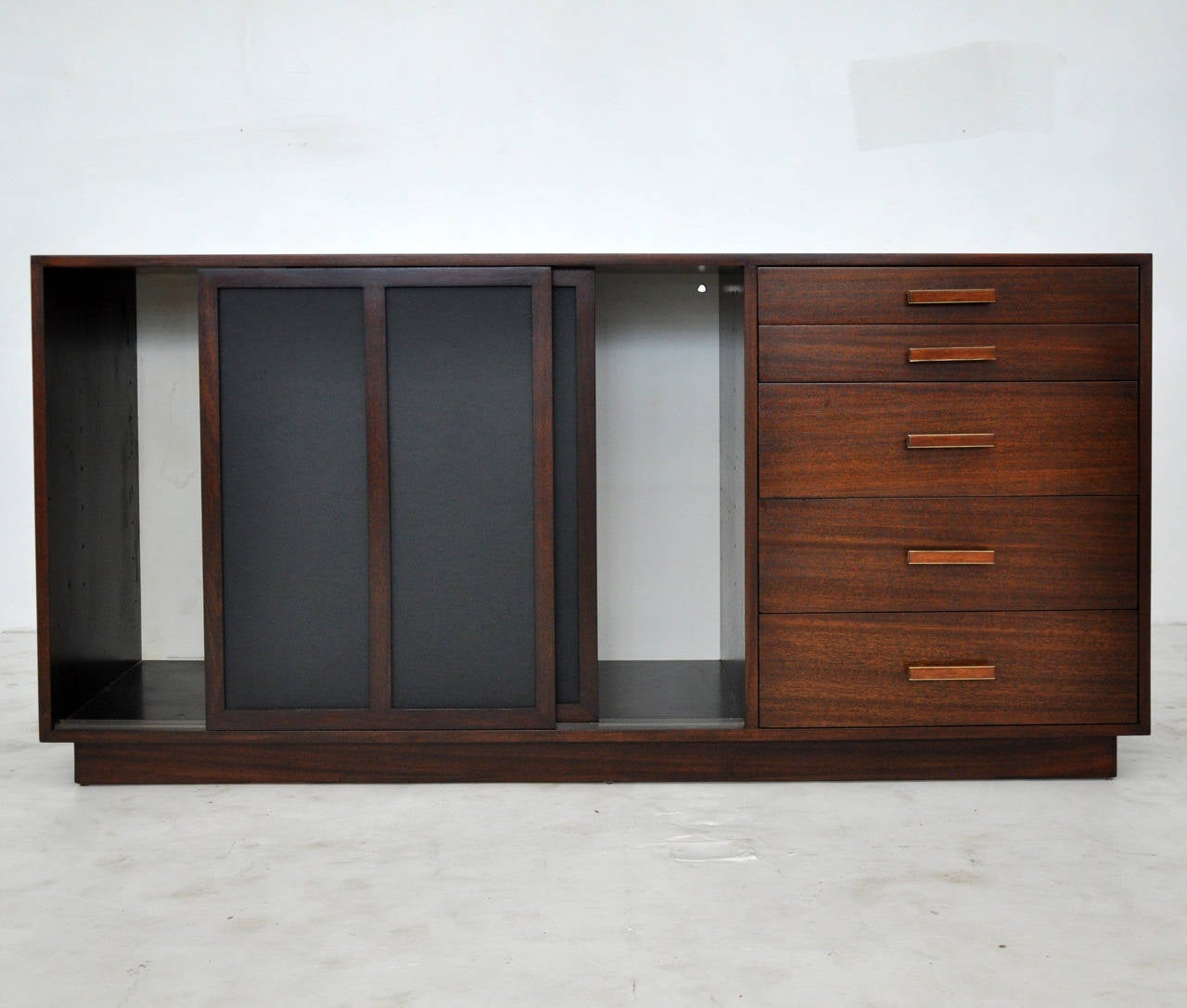 1087 #653928 Harvey Probber Credenza With Leather Doors At 1stdibs save image Harvey Doors 43271280