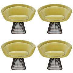 Warren Platner Bronze Lounge Chairs