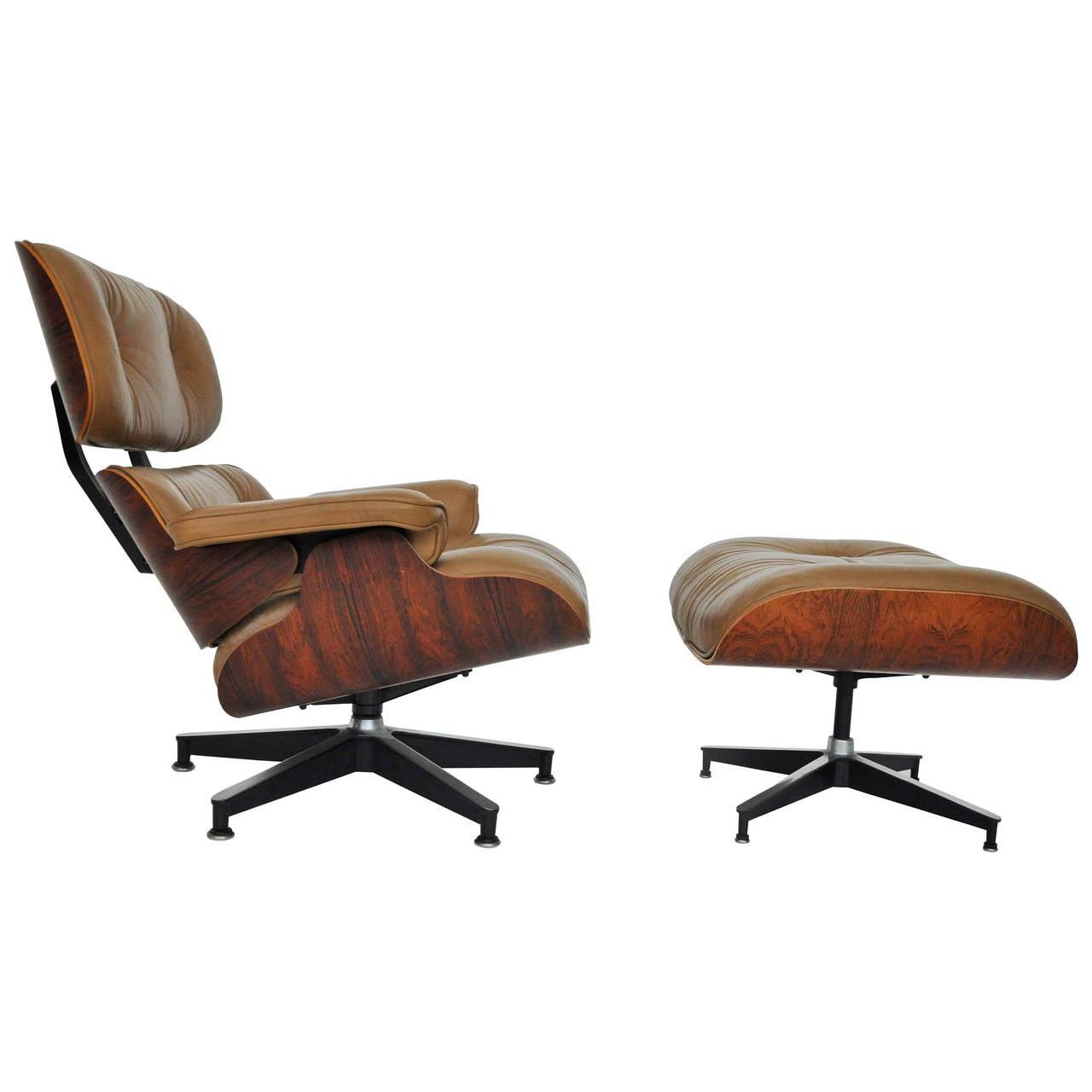 rosewood charles eames lounge chair herman miller at 1stdibs. Black Bedroom Furniture Sets. Home Design Ideas