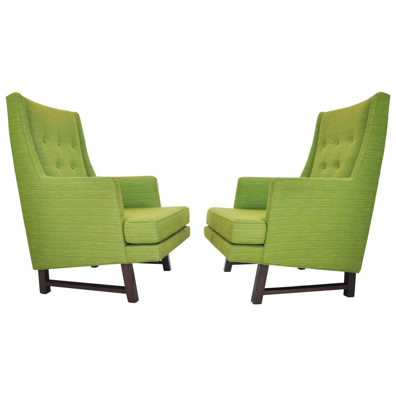 Dunbar high back lounge chairs by edward wormley at 1stdibs - Edward wormley chairs ...