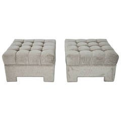 Milo Baughman Tufted Ottomans