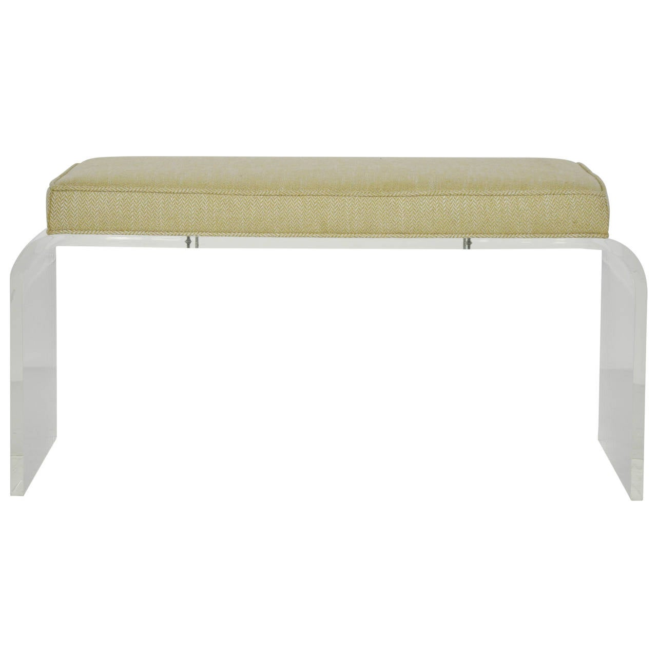 Lucite Waterfall Bench At 1stdibs