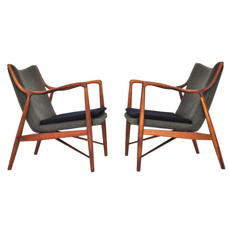 Finn Juhl 45 Chairs At 1stdibs