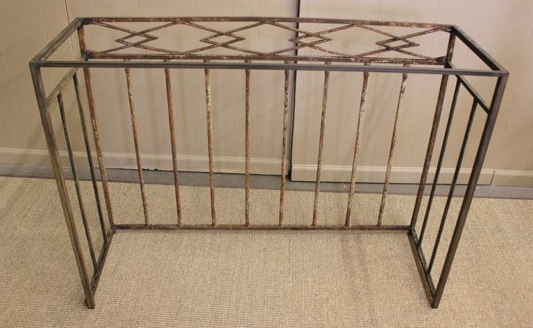 Early 19th century french iron balconies as console tables for Balcony console