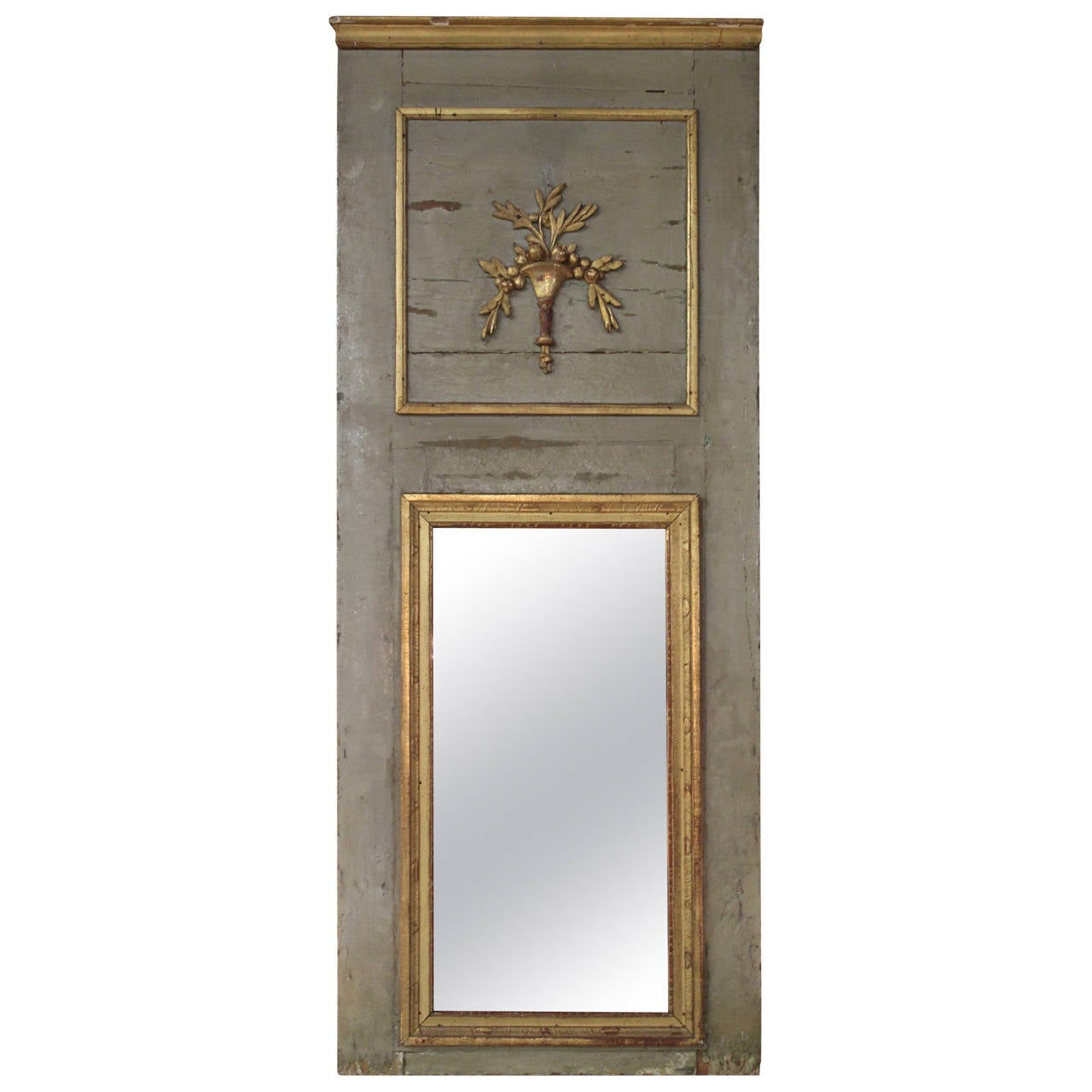 18th Century French Trumeau Mirror at 1stdibs