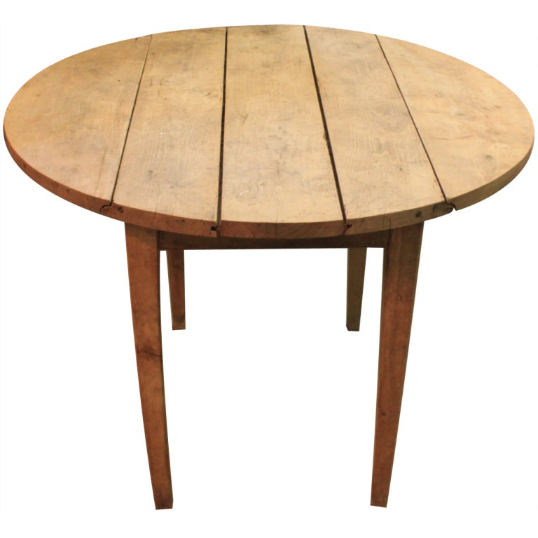19thc French Drop Leaf Walnut Dining Side Table At 1stdibs
