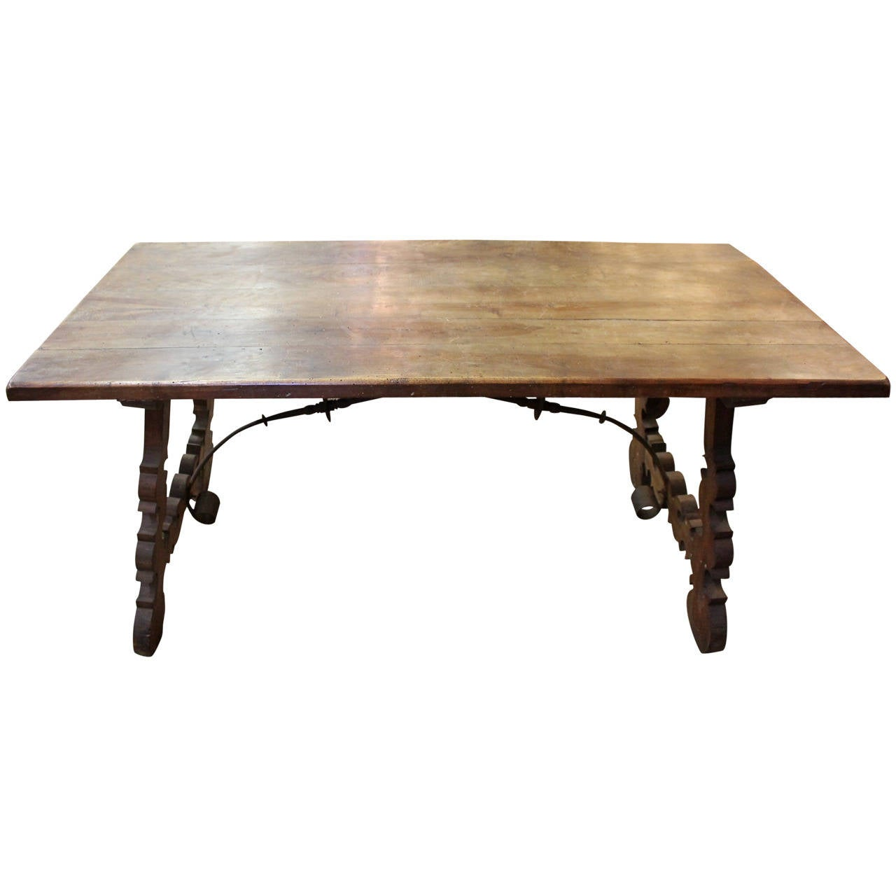 Spanish 19th century dining table desk at 1stdibs for Table in spanish