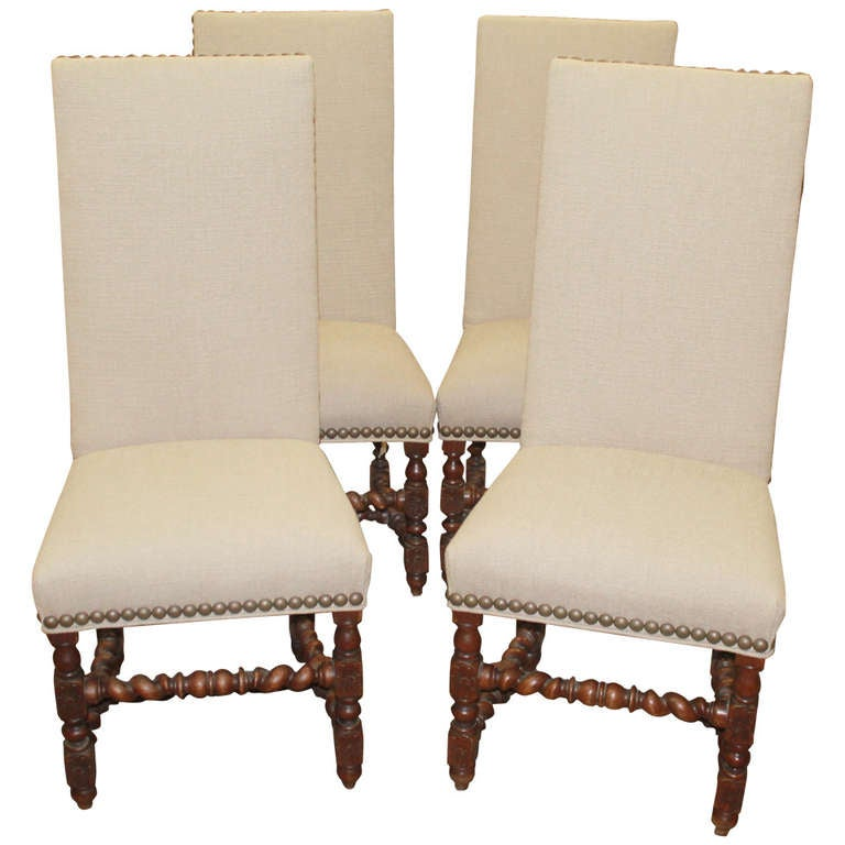 19th Century French Barley Twist Chairs At 1stdibs