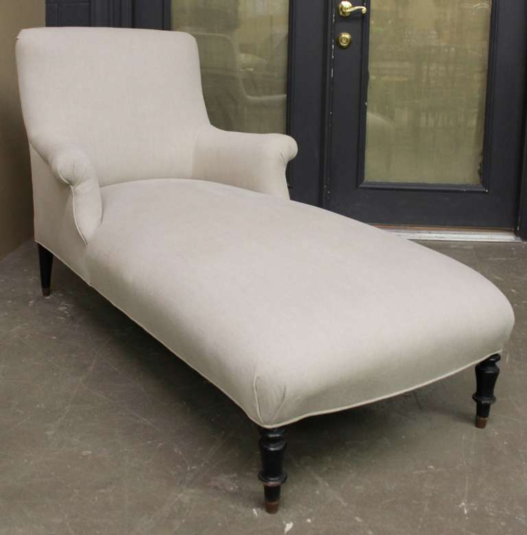 19th century french louis phillipe style chaise lounge at for 19th century chaise lounge