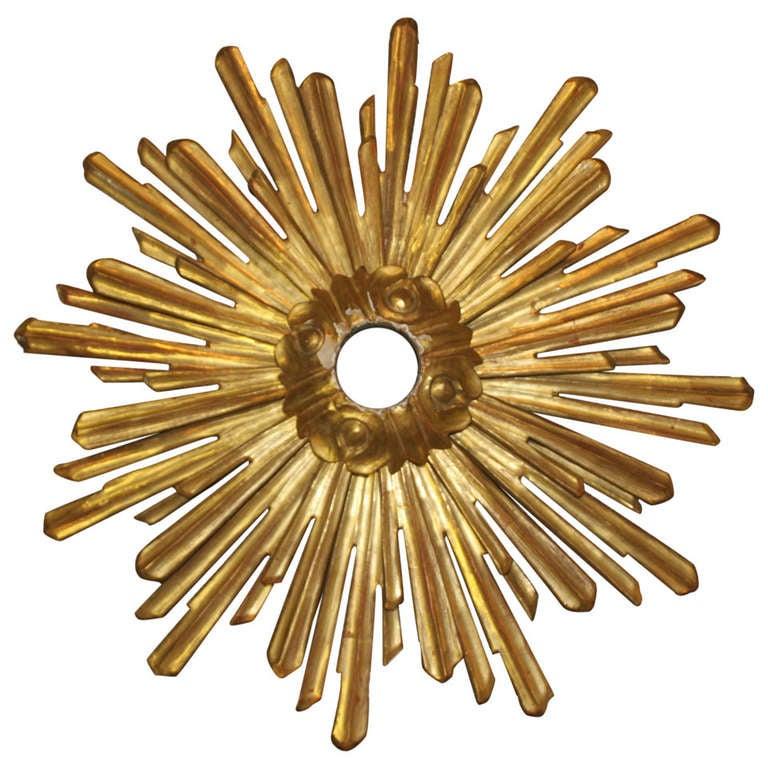 19thc French Carved Gilt Starburst Sunburst at 1stdibs