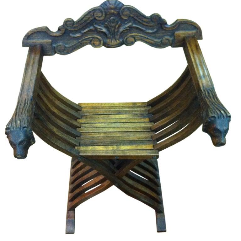 Early 20th C Italian Savorarola Chair At 1stdibs