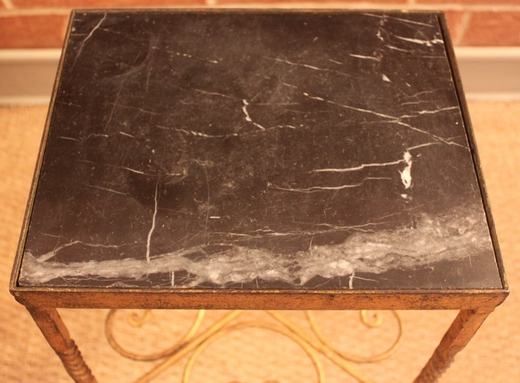 1940 39 S Spanish Martini Table With Black Marble Top At 1stdibs