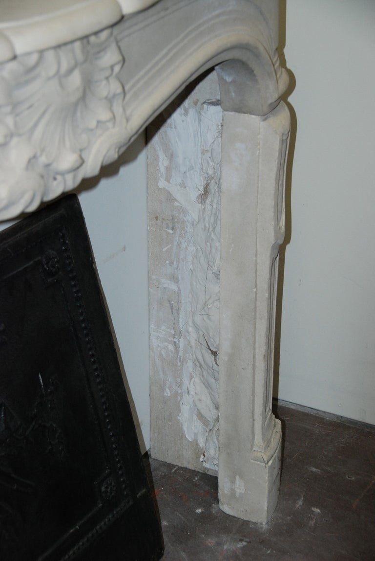 19th Century French Limestone Fireplace At 1stdibs