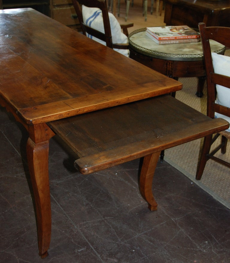 19th Century French Cherry Farmhouse Table at 1stdibs