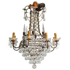 Italian Crystal Chandelier, 19th Century