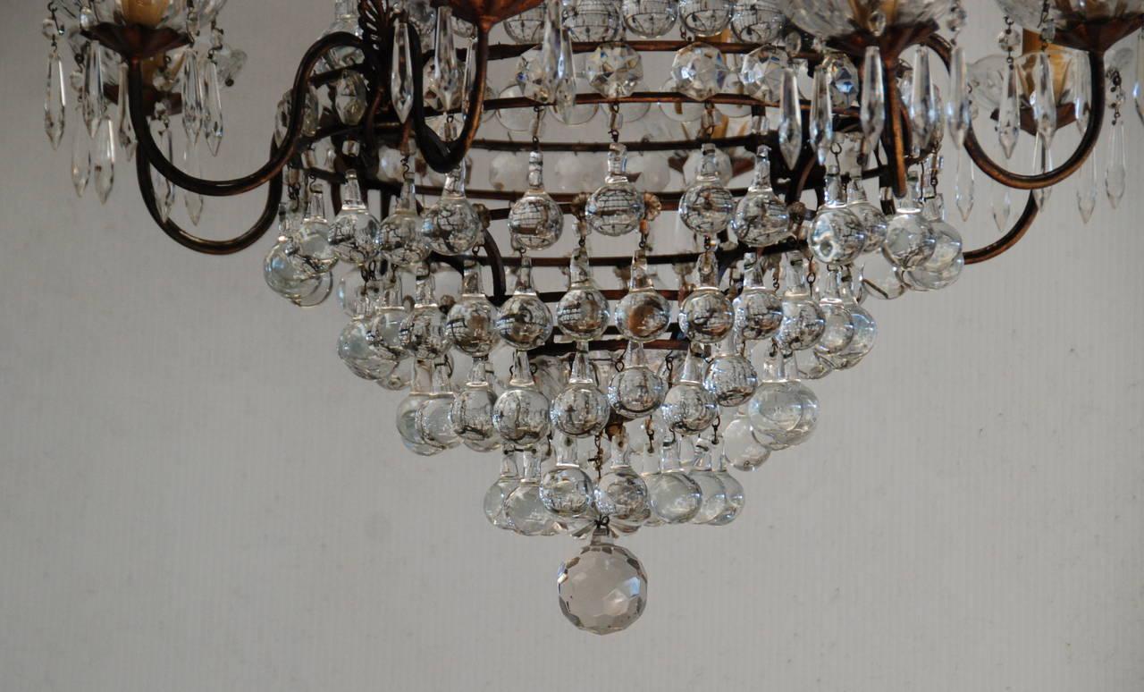 Italian Crystal Chandelier, 19th Century For Sale 3