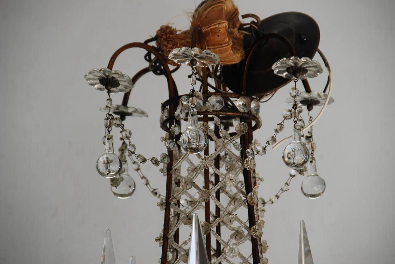 Italian Crystal Chandelier, 19th Century In Excellent Condition For Sale In Encinitas, CA