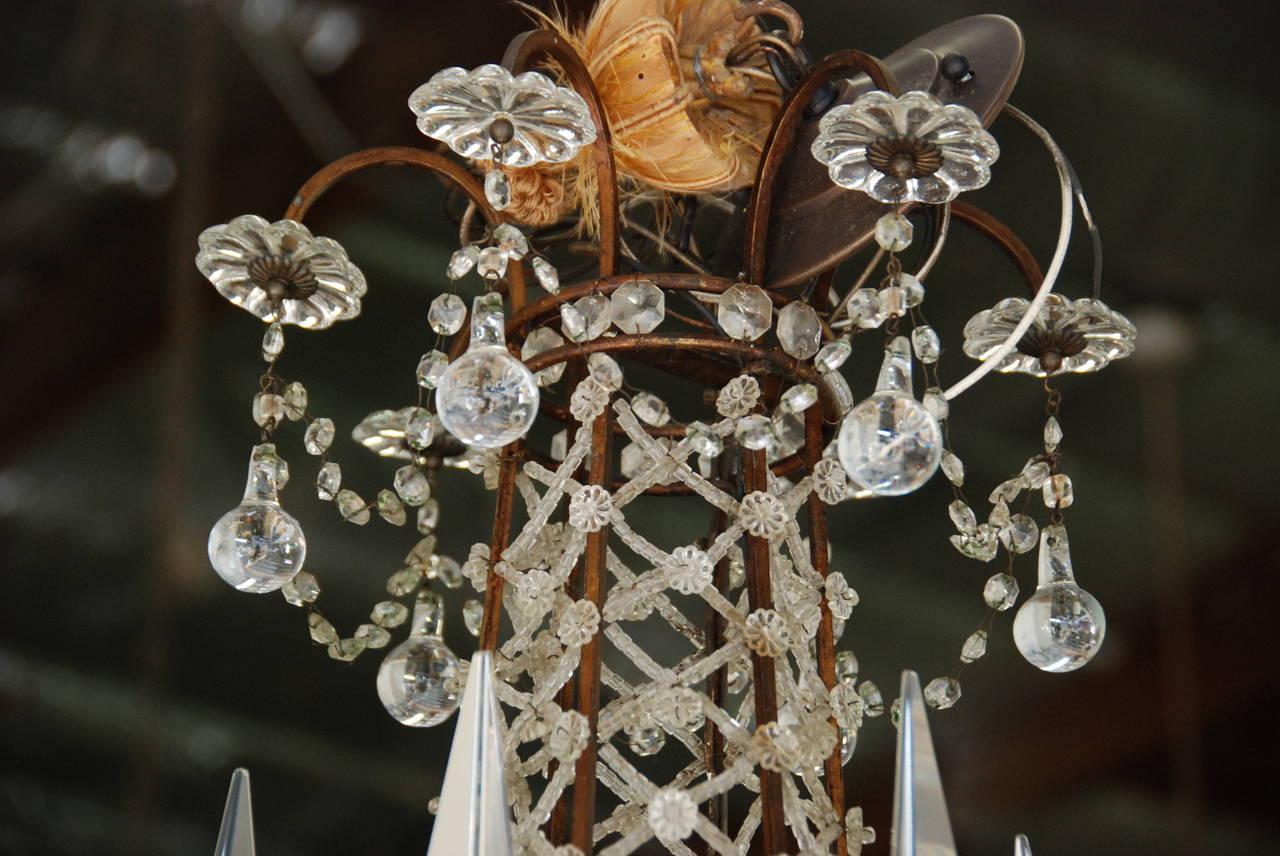 Italian Crystal Chandelier, 19th Century For Sale 6