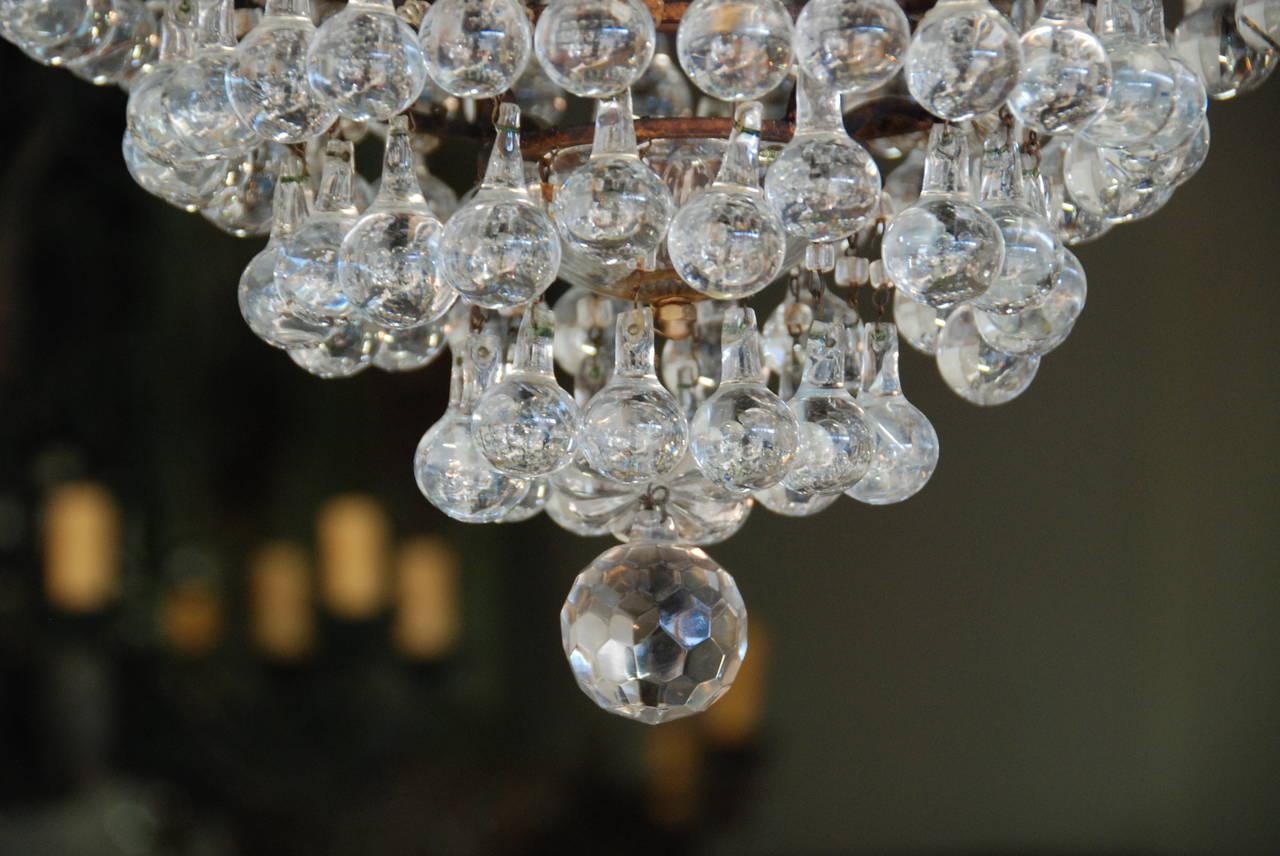 Italian Crystal Chandelier, 19th Century For Sale 5