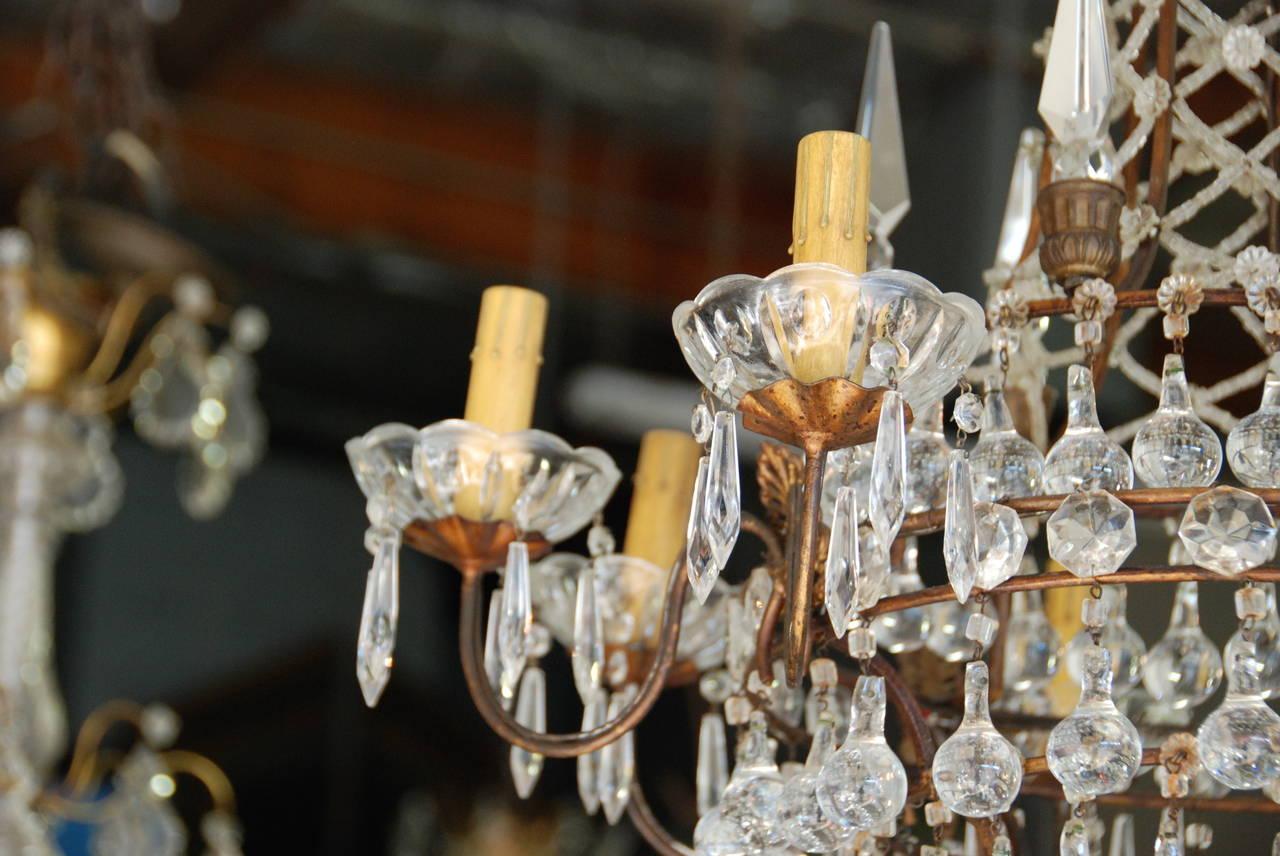 Italian Crystal Chandelier, 19th Century For Sale 4