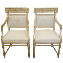 Pair of 18th Century Neoclassical Italian Bergere