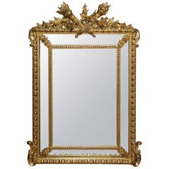 French Regency Gilded Mirror Facette