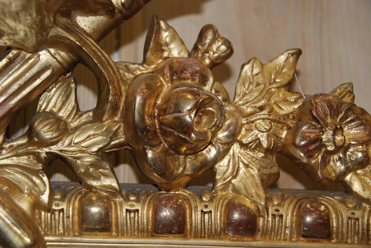 French Regency Gilded Mirror Facette For Sale 2