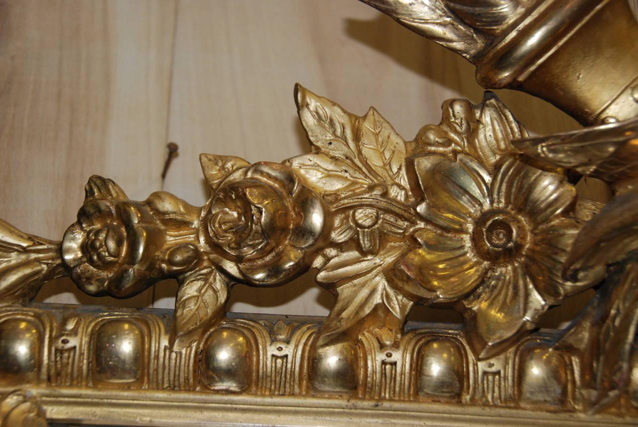 French Regency Gilded Mirror Facette For Sale 1