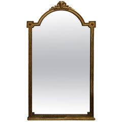 Grand 19th Century Beveled French Gilded Mirror