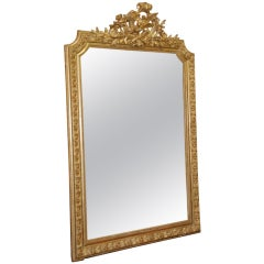 Large 19th Century Carved Gilt Wood Mirror