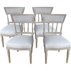 Set of 4 Gustavian Chairs