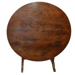 19th Century Walnut Wine Tasting Table