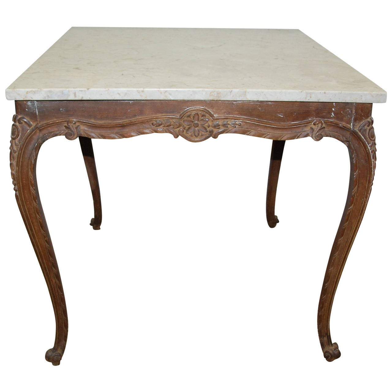 French Marble Top Table