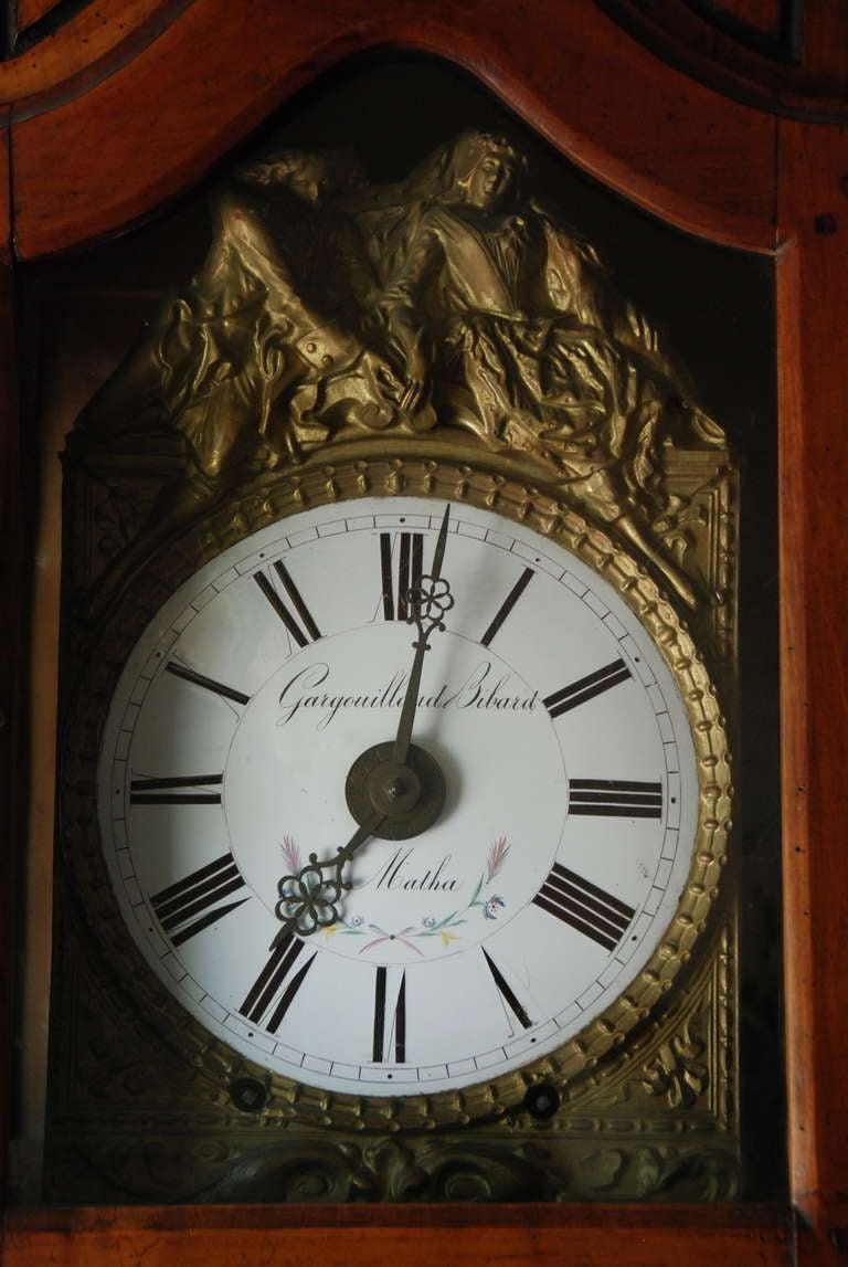 18th Century and Earlier French Walnut Clock For Sale