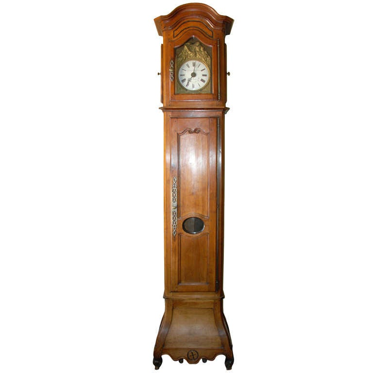 French Walnut Clock For Sale