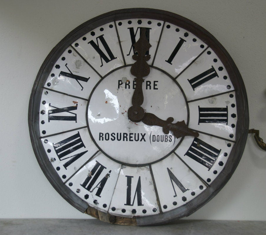 Large 19th Century French Clock Face 2