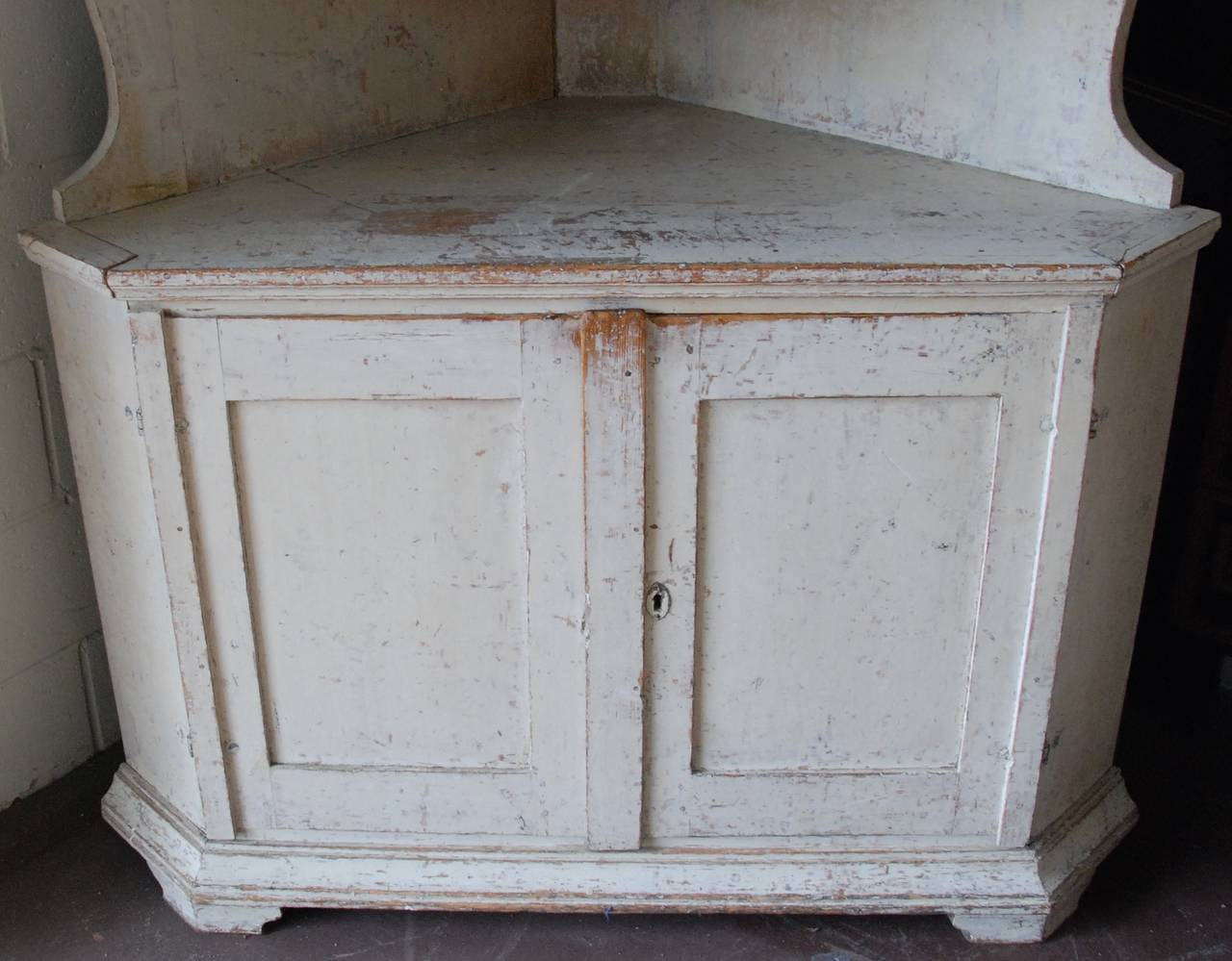 Rococo Swedish Corner Cabinet For Sale