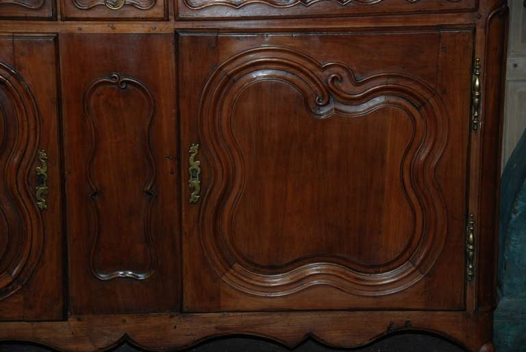 18th Century Walnut Buffet a Deux Corps For Sale 1