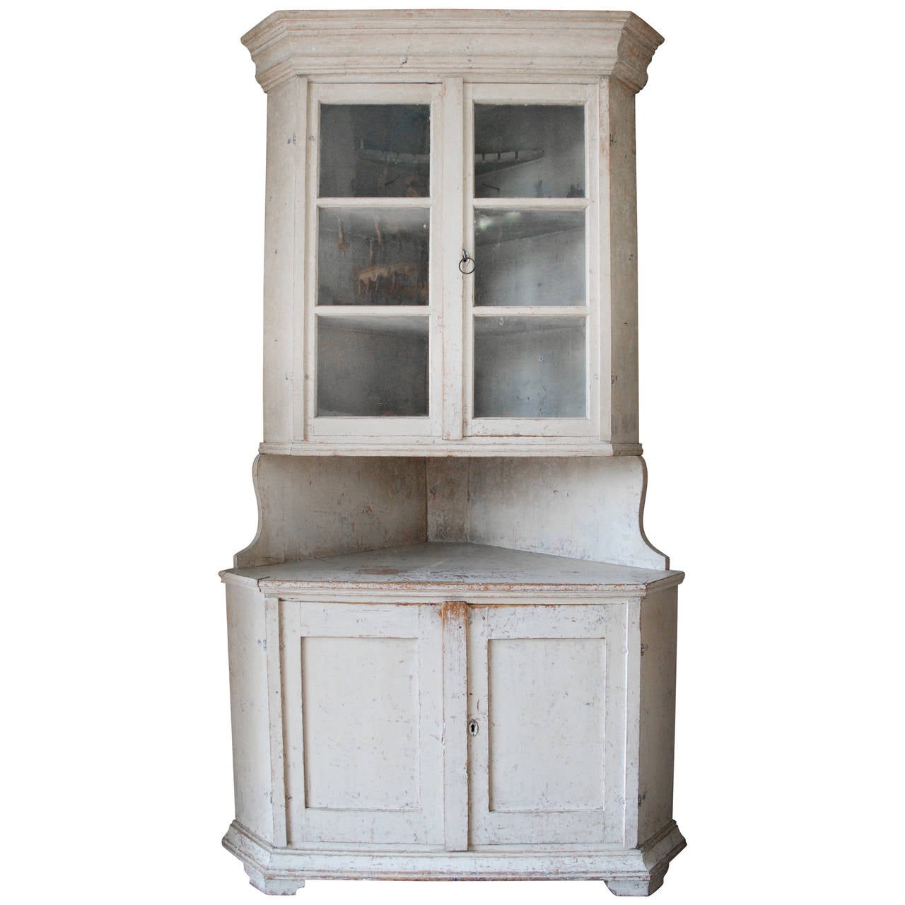 Swedish Corner Cabinet For Sale