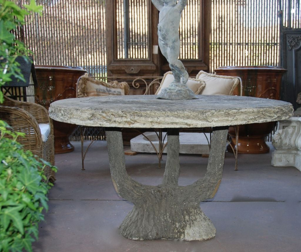French Faux Bois Table At 1stdibs