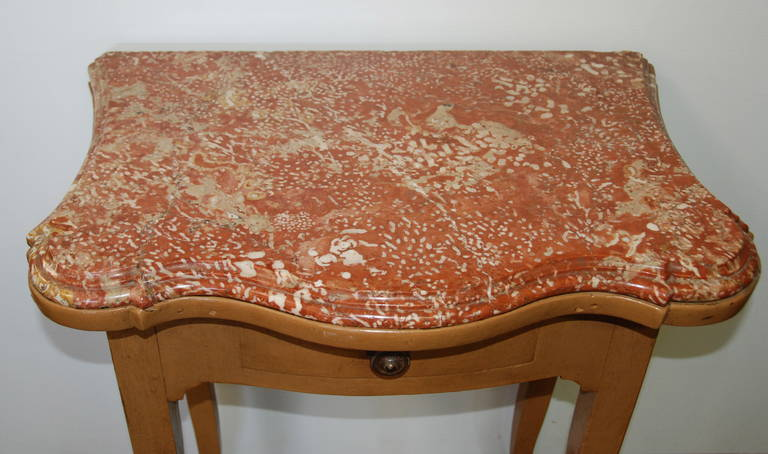 French 19th Century Marble-Top Bedside Table For Sale 4