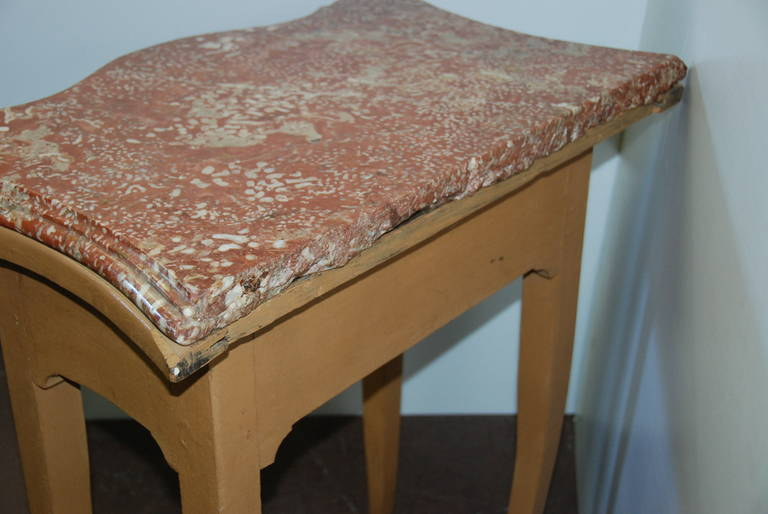 French 19th Century Marble-Top Bedside Table For Sale 1