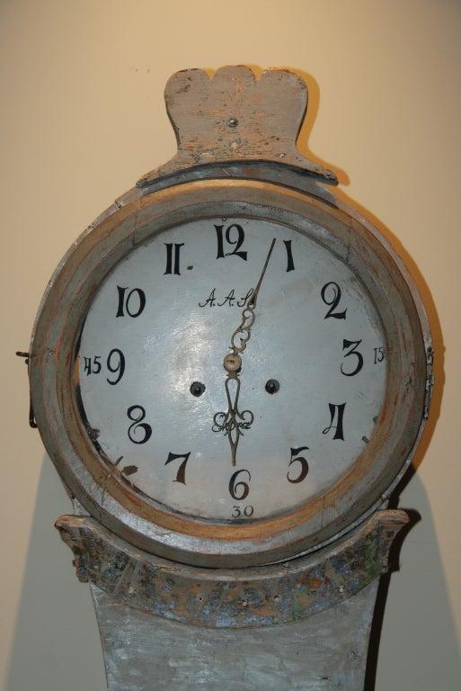 Wood 18th Century Swedish Mora Clock For Sale