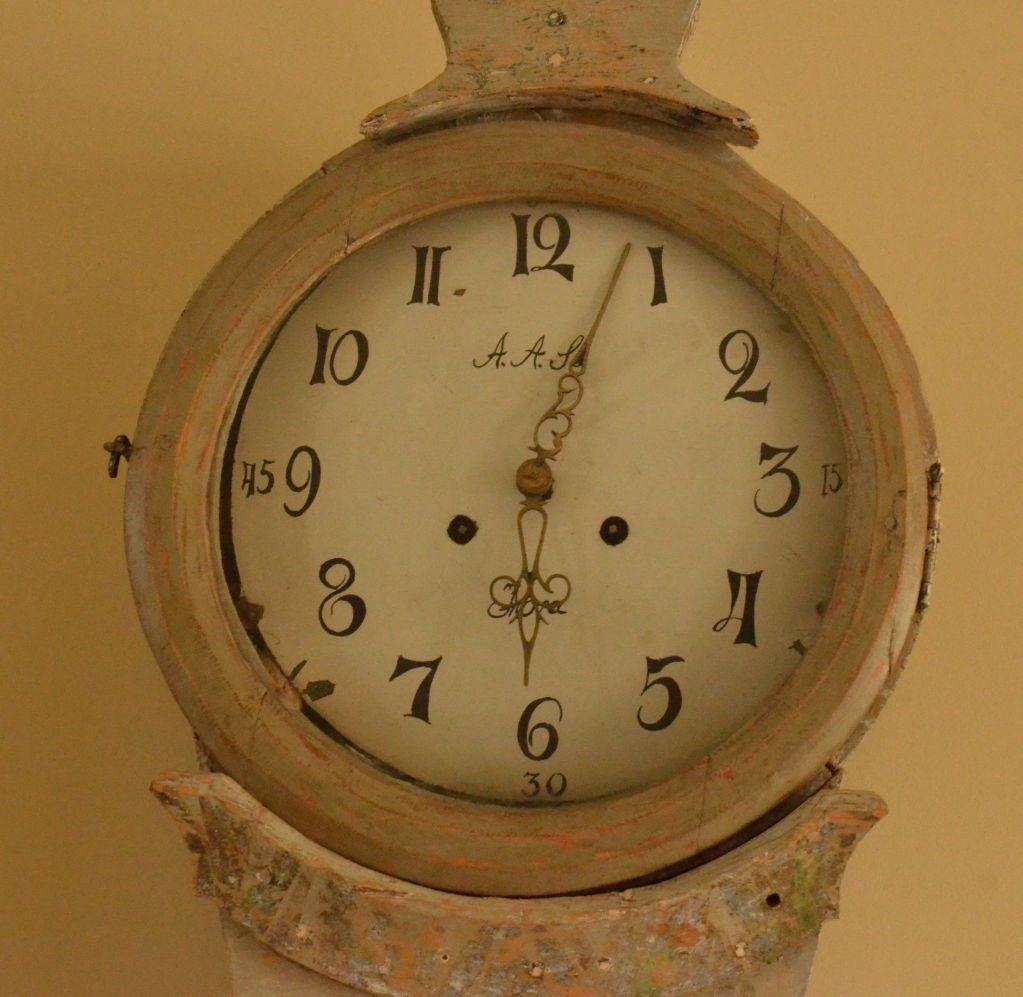 18th Century Swedish Mora Clock For Sale 1