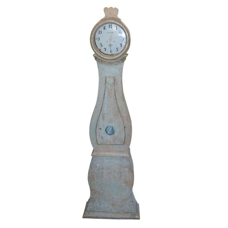 18th Century Swedish Mora Clock For Sale