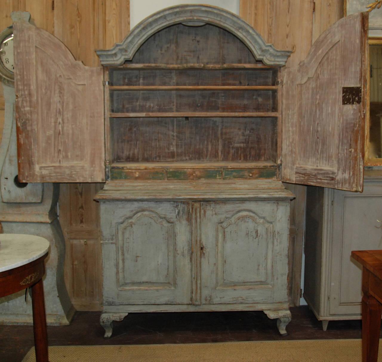 Swedish Rococo Cupboard For Sale 4